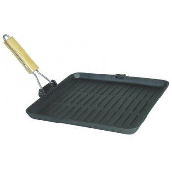 Сковорода-гриль 20,5х20,5 см съемная ручка тм myron cook