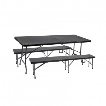 Набор складной мебели gogarden palermo, 180х75х72 см, пластик/сталь
