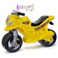 Ор501в3 каталка-мотоцикл беговел racer rz 1 с музыкой, цвет желтый