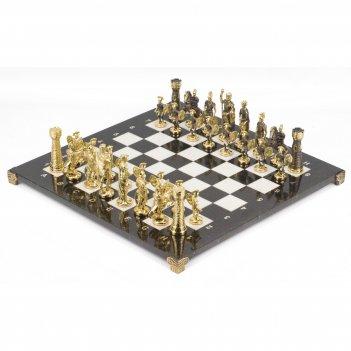 Шахматы римские бронза мрамор 400х400 мм
