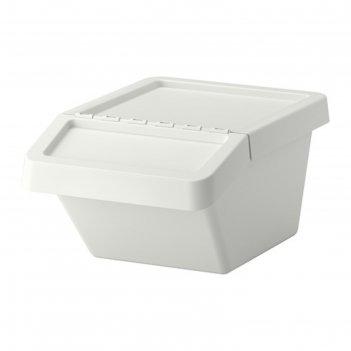 Бак мусорный сортера, 37 л, цвет белый