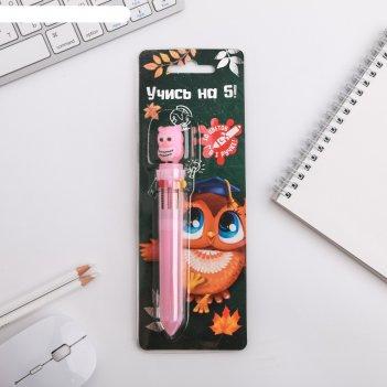 Многоцветная ручка учись на 5!