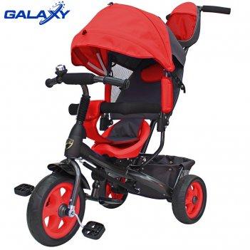 3-х колесный велосипед galaxy лучик vivat красный
