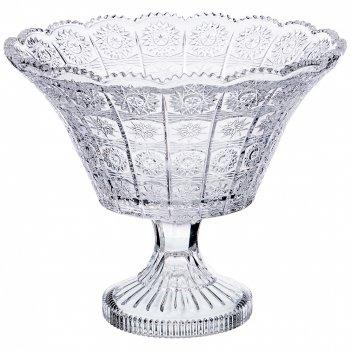 Фруктовница на ножке muza crystal диаметр=23,5 см. высота=20 см.