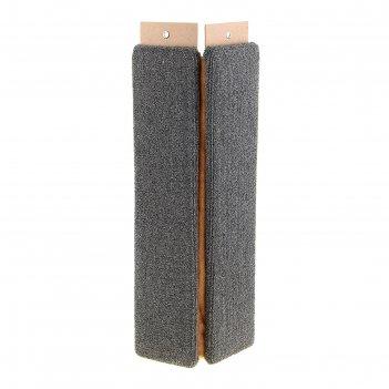 Когтеточка угловая, ковролиновая, 68 х 14,5 х 14,5 см