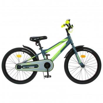 Велосипед 18 graffiti deft, цвет серый/салатовый