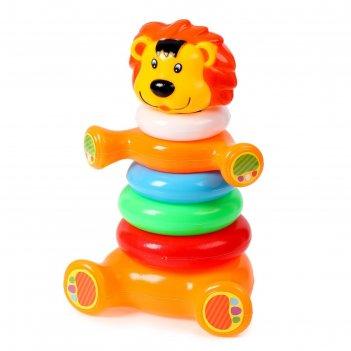 Пирамидка львёнок, 6 колец