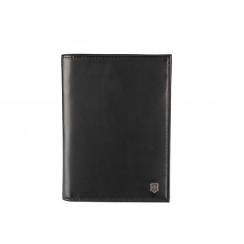 Обложка для паспорта victorinox altius edge leibnitz с защитой rfid, чёрна