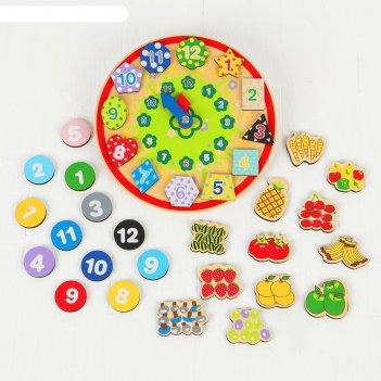 Деревянная игрушка волшебные часы (3 комплекта липучек) 22,5х23х7 см