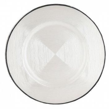 Блюдо сервировочное горный хрусталь d=33см. h=2,5см. (стекло) (транспортна