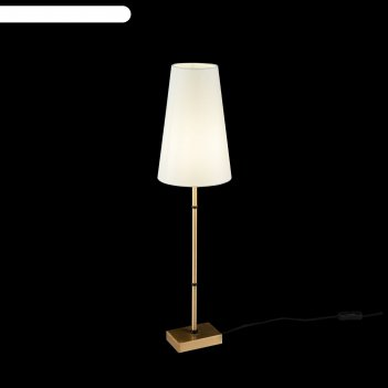 Настольная лампа zaragoza, 1x60вт e27 латунь