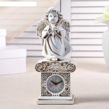 Часы настольные ангел со звездочкой, h=25.5 см
