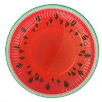 Тарелка с ламинацией арбуз 18 см