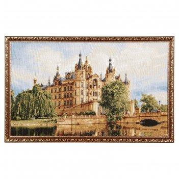 Гобеленовая картина замок шамбор 85х50 см