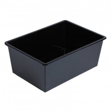 Ящик универсальный,для хранения без крышки, объем 30 л. цвет черный