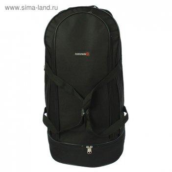 Рюкзак туристический на молнии, 1 отдел, 1 наружный карман, чёрный