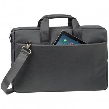 Сумка для ноутбука 17,3 rivacase 8251 43*29,8*5см, полиэстер, серый