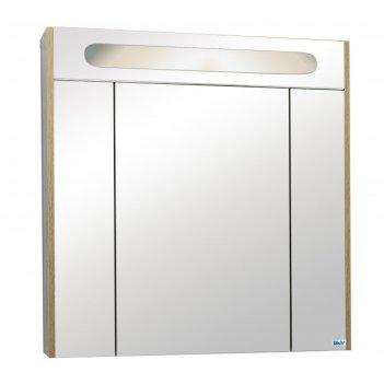 Шкаф-зеркало верона с подсветкой, дуб сонома