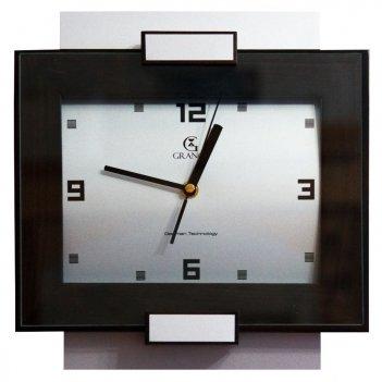 Часы настенные aс-01  венге со стеклом 300х270х40 мм
