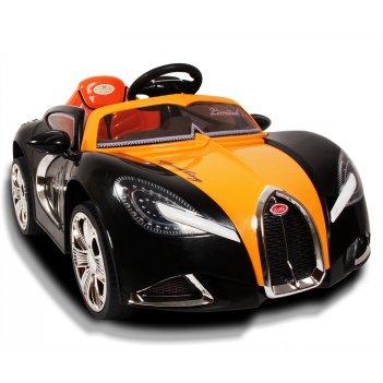 Детский электромобиль bugatti 188 оранжевый черный