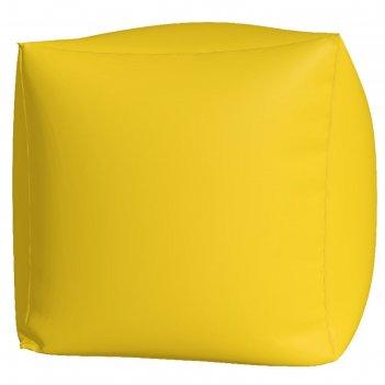 Пуфик куб макси, ткань нейлон, цвет желтый