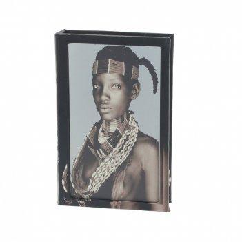 Шкатулка-книга с зеркальным элементом, l17 w5 h26 см
