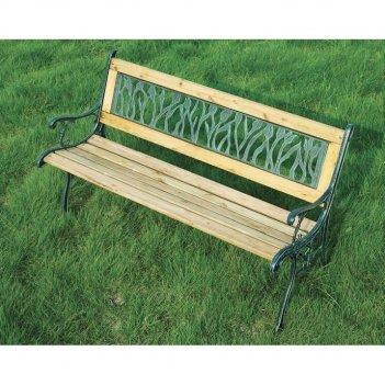 Скамейка чугунная с-010 тюльпаны
