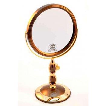 Зеркало b7 8066 blk/g black&gold наст. кругл. 2-стор. 5-кр.у