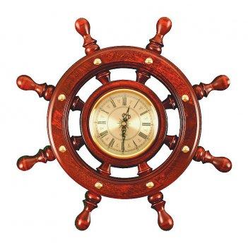 Шчст-с06 штурвал сувенирный, часы (8 ручек)