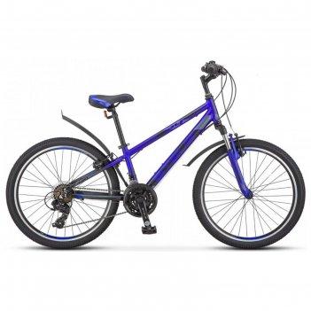 Велосипед 24 stels navigator-440 v, k010, цвет серебристый/синий, размер 1