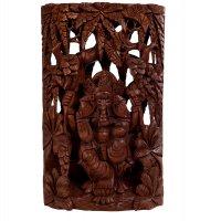 17-002 панно резное ганеша - бог изобилия (суар, о.бали)