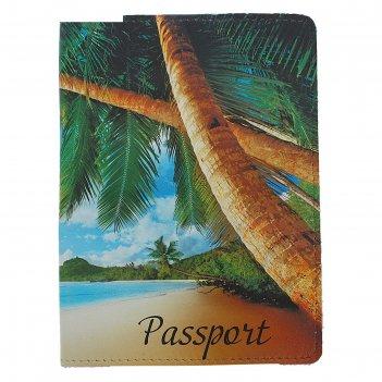 Обложка для паспорта пальмы, фотопечать