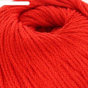 Пряжа крокус 100% мерсеризованный хлопок 160м/100гр (0042, красный)