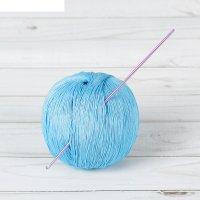 Крючок для вязания металлический, ch-15, d=2мм, 15см, цвет розовый