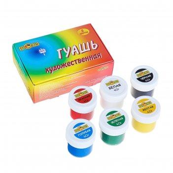 Гуашь художественная набор  6цв*40мл спектр радуга 240г 91с-201