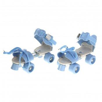 Ролики для обуви раздвижные, размер 16-21 см, колеса рvc d = 45 мм, цвет г