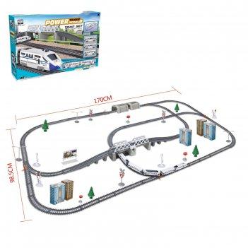 Железная дорога «экспресс», работает от батареек, длина пути 9,14 м., свет