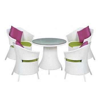 Комплект мебели из искусственного ротанга бриз (белый)