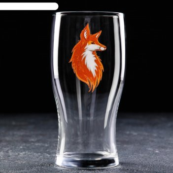 Бокал для пива доляна «лис», 570 мл