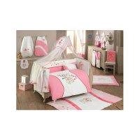 Комплект в кроватку sweet home, 6 предметов, цвет розовый