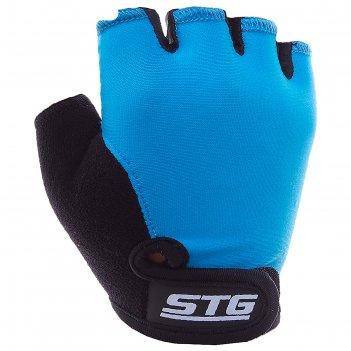 Перчатки велосипедные детские stg х87905, размер xs, цвет синий