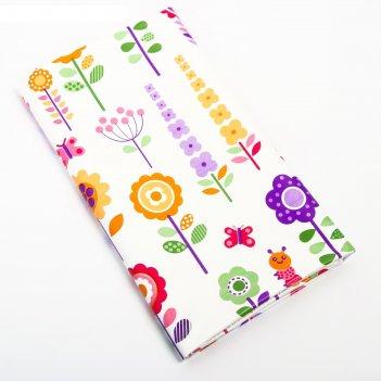 Клеёнка с пвх-покрытием «цветы», 100х140 см