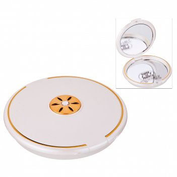 Зеркало карманное диаметр=8 см. высота=1,5 см. увеличение в 5 раз (мал=12ш