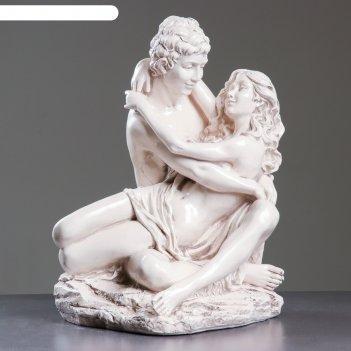 Фигура влюбленные на камне средние 37х41х50см, состаренный