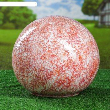 Садовый декор шар, розовый