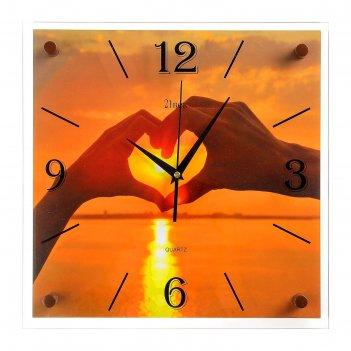 Часы настенные, серия: море, любовь, 35х35 см