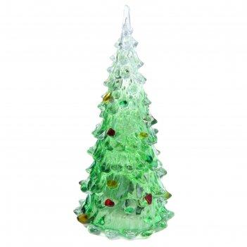 Игрушка световая елочка радуга загадка (батарейки в комплекте) 12 см, 1 le