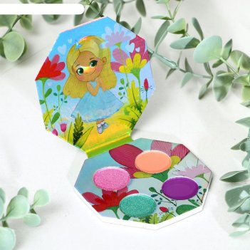 Тени для девочки самая милая принцесса 4 цвета по 1,3 гр