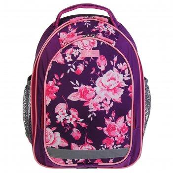 Рюкзак школьный с эргономичной спинкой, calligrata, 37 х 27 х 16, «цветы»,