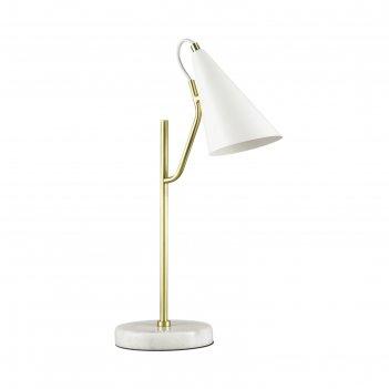 Настольная лампа watson, 40вт e14, цвет белый, золото